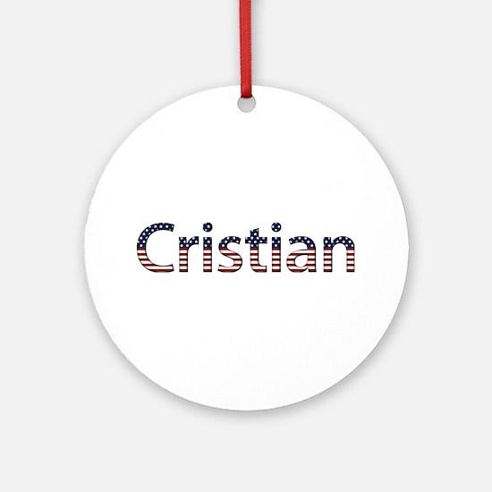 Cristian Stars and Stripes Round Ornament