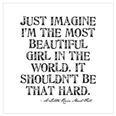 Beautiful Girl Quote Poster