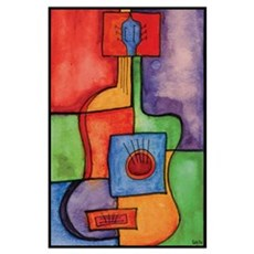 Colorful Guitar Poster