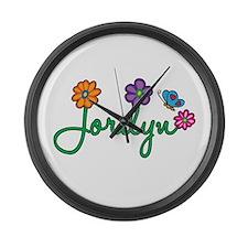Jordyn Flowers Large Wall Clock