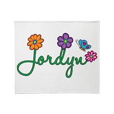 Jordyn Flowers Throw Blanket