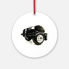 BLACK BEAUTY - MONSTER TRUCK Ornament (Round)