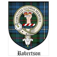 Robertson Clan Crest Tartan Poster
