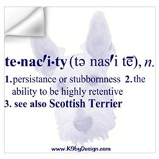 Tenacity--Scottish Terrier Wall Decal