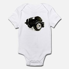 BLACK BEAUTY - MONSTER TRUCK Infant Creeper