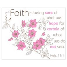 Faith (pink & brown) Canvas Art
