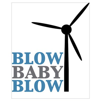 Blow Baby Blow (Wind Energy) Framed Print