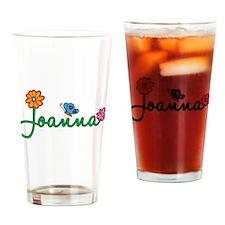 Joanna Flowers Drinking Glass