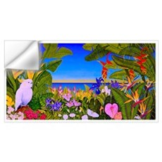 Tropical Paradise Art Wall Decal