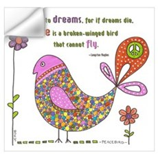 Langston Hughes Peacebird Wall Decal
