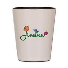 Jimena Flowers Shot Glass