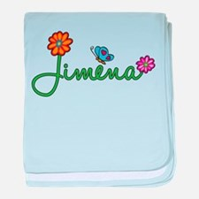 Jimena Flowers baby blanket