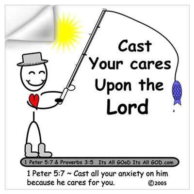 CAST YOUR CARES! Wall Decal
