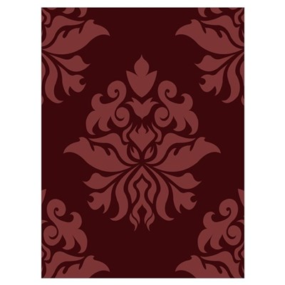 Damask - Plum Colors, Poster