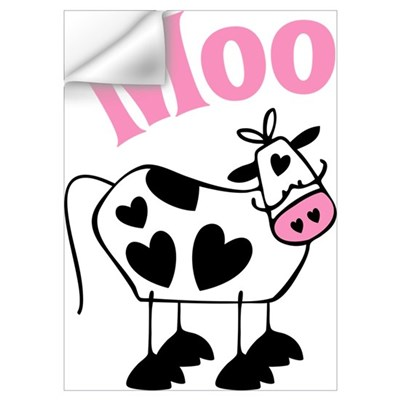 Heart Cow Wall Decal