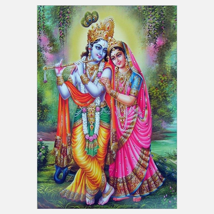 Wall Decor Radha Krishna : Radha krishna wall art decor