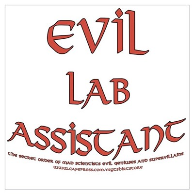 Evil Lab Assistant Framed Print