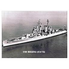 USS HELENA (CA-75) Poster