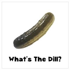What's The Dill Pickle Framed Print