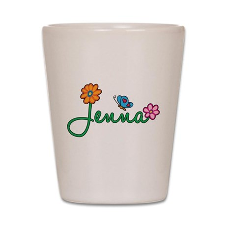 Jenna Flowers Shot Glass