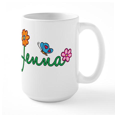 Jenna Flowers Large Mug