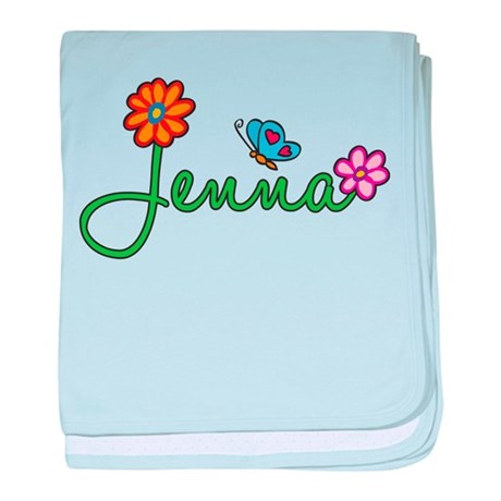 Jenna Flowers baby blanket