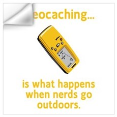 Geocaching Nerds Wall Decal