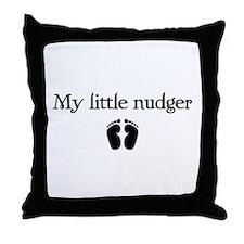 little nudger Throw Pillow
