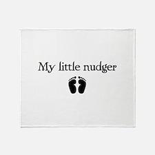 little nudger Throw Blanket