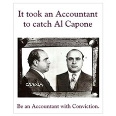 Al Capone Accountant 16 x 20 Canvas Art