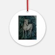Horse, animal, art, Ornament (Round)