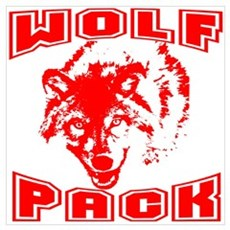 Wolf Pack ~ Red Poster