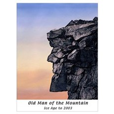 Old Man of the Mountain Dusk Poster