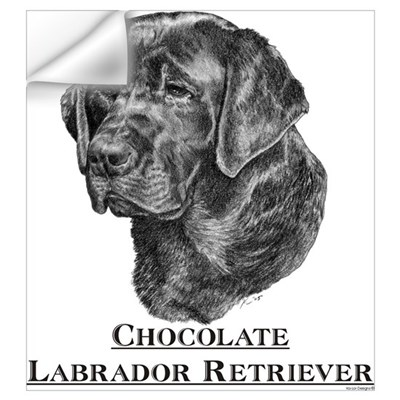 Chocolate Labrador Breed Wall Decal