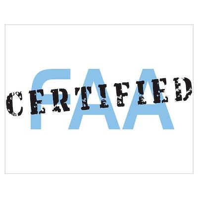 Aviation FAA Certified Poster
