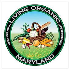 Living Organic Maryland Poster