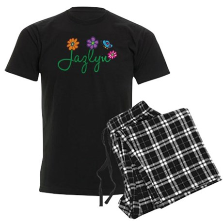 Jazlyn Flowers Men's Dark Pajamas