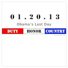1.20.13 - Obama's Last Day Poster