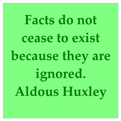 aldous huxley quotes Framed Print