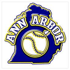 Ann Arbor Baseball Poster