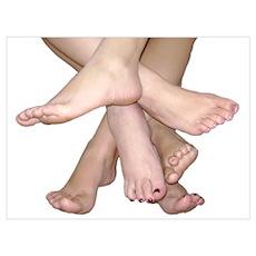 Family of Bare Feet Poster