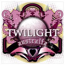 Twilight Australia Crystal Pink Crest Poster
