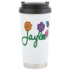 Jaylee Flowers Travel Coffee Mug