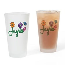 Jaylee Flowers Drinking Glass