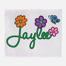 Jaylee Flowers Throw Blanket
