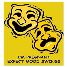 I'm pregnant. Expect mood swings Framed Print