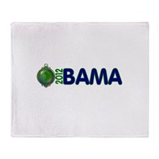 Obama for earth Throw Blanket
