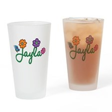 Jayla Flowers Drinking Glass