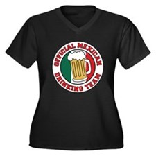 Official Mexican Drinking Tea Women's Plus Size V-