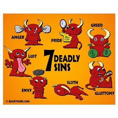 Seven Deadly Sins Framed Print